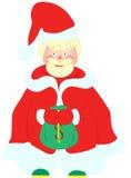 Weihnachtsmann mit der Tasche voll vom Geld Stockfoto
