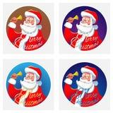 Weihnachtsmann mit einer Glocke Lizenzfreies Stockfoto