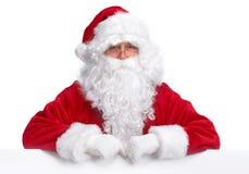 Weihnachtsmann mit Fahne lizenzfreie stockbilder