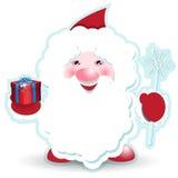 Weihnachtsmann mit Geschenk stock abbildung