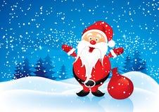 Weihnachtsmann mit Geschenken Stockfoto