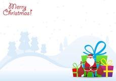 Weihnachtsmann mit Geschenken vektor abbildung