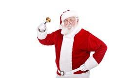 Weihnachtsmann mit Glocke Stockfotos