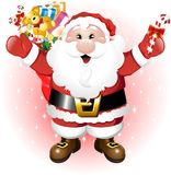 Weihnachtsmann mit Spielwaren Lizenzfreie Stockfotos