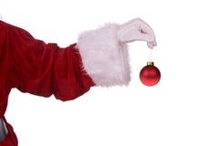 Weihnachtsmann mit Verzierung stockfoto