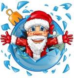 Weihnachtsmann mit Weihnachtsball Stockfotos