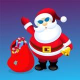 Weihnachtsmann mit Weihnachtsgeschenken Stockfotos