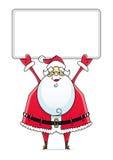 Weihnachtsmann mit Zeichen Lizenzfreies Stockfoto