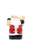 Weihnachtsmann-Modellzahl Spielzeug auf weißem Hintergrund Lizenzfreies Stockfoto