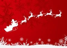Weihnachtsmann-Pferdeschlitten Stockfotografie