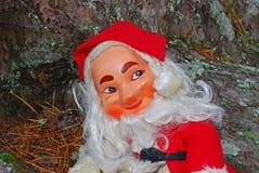 Weihnachtsmann-Puppe im Holz Stockfotografie