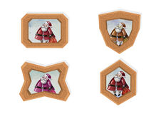 Weihnachtsmann-Rahmen Stockbilder