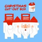 Weihnachtsmann schnitt Kasten heraus Stockfotografie
