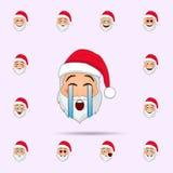 Weihnachtsmann in Schrei emoji Ikone Ikonen-Universalsatz Weihnachtsmanns Emoji f?r Netz und Mobile vektor abbildung
