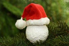 Weihnachtsmann-Schutzkappe Lizenzfreies Stockbild