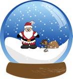Weihnachtsmann Snowglobe Stockfotografie