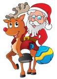 Weihnachtsmann-thematisches Bild 1 Lizenzfreies Stockbild