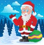 Weihnachtsmann-thematisches Bild 4 Lizenzfreies Stockfoto