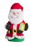 Weihnachtsmann trennte auf weißem Hintergrund. Stockfotografie