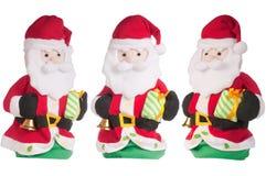 Weihnachtsmann trennte auf weißem Hintergrund. Lizenzfreies Stockfoto