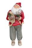 Weihnachtsmann trennte auf weißem Hintergrund Stockfoto