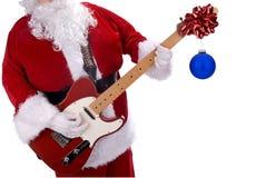 Weihnachtsmann und Gitarre Lizenzfreie Stockfotos