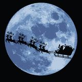 Weihnachtsmann und Pferdeschlitten Lizenzfreie Stockfotografie
