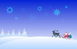Weihnachtsmann und Ren Stockbild