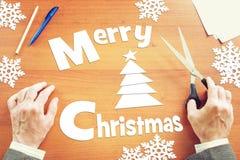 Weihnachtsmann und roter Ball Lizenzfreie Stockbilder