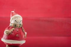 Weihnachtsmann und Schneemann Stockbild
