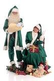 Weihnachtsmann-und Weihnachtsfrau Stockfotografie