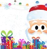 Weihnachtsmann-und Weihnachtsgeschenke stock abbildung