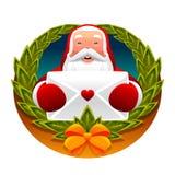 Weihnachtsmann und Zeichen Lizenzfreie Stockfotografie