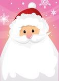 Weihnachtsmann und Zeichen Stockfoto