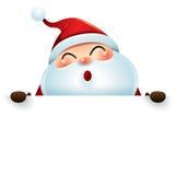 Weihnachtsmann und Zeichen Stockfotos
