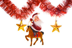 Weihnachtsmann unter Sternen Stockbild