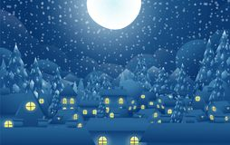 Weihnachtsmann-Vektor auf Schneerückseitenboden Lizenzfreie Stockbilder