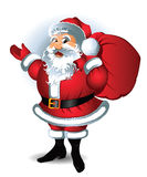 Weihnachtsmann. Vektorabbildung. Stockbilder