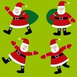 Weihnachtsmann-vektorkarikatur lizenzfreie abbildung