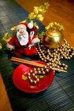 Weihnachtsmann-Vietnamese-Zauntritt Lizenzfreies Stockbild