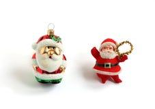 Weihnachtsmann-Weihnachtsbaumdekorationen stockbild