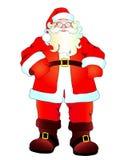 Weihnachtsmann, Weihnachtshintergrund Lizenzfreie Stockfotos