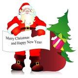 Weihnachtsmann, Weihnachtshintergrund Stockfoto