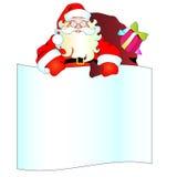 Weihnachtsmann, Weihnachtshintergrund Lizenzfreies Stockfoto