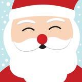 Weihnachtsmann-Weihnachtskarte Stockbild