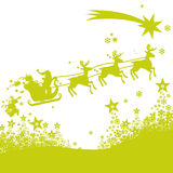 Weihnachtsmannren- und -eisblumen Stockfotografie