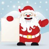 Weihnachtsmanns Meldung lizenzfreie abbildung