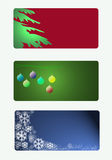 Weihnachtsmarken im Rot, im Grün und im Blau lizenzfreie abbildung