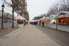 Weihnachtsmarkt stockbild