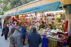 Weihnachtsmarkt in Barcelona Lizenzfreie Stockbilder